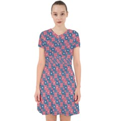 Squares And Circles Motif Geometric Pattern Adorable In Chiffon Dress