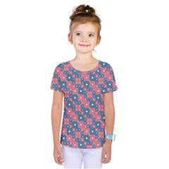 Squares And Circles Motif Geometric Pattern Kids  One Piece Tee