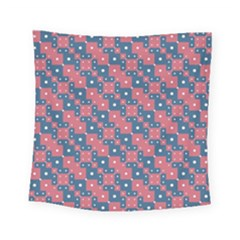 Squares And Circles Motif Geometric Pattern Square Tapestry (small)