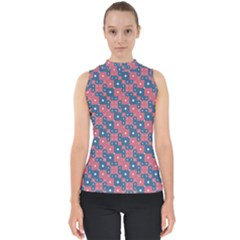 Squares And Circles Motif Geometric Pattern Shell Top