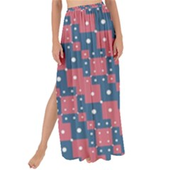 Squares And Circles Motif Geometric Pattern Maxi Chiffon Tie Up Sarong