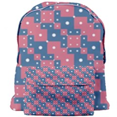 Squares And Circles Motif Geometric Pattern Giant Full Print Backpack