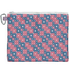 Squares And Circles Motif Geometric Pattern Canvas Cosmetic Bag (xxxl)