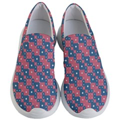 Squares And Circles Motif Geometric Pattern Women s Lightweight Slip Ons