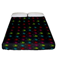 Roses Raining For Love  In Pop Art Fitted Sheet (queen Size)