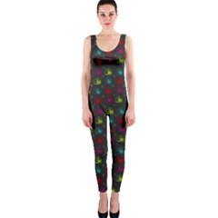 Roses Raining For Love  In Pop Art One Piece Catsuit