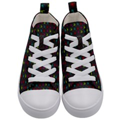 Roses Raining For Love  In Pop Art Kid s Mid Top Canvas Sneakers