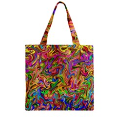 Colorful 2 Zipper Grocery Tote Bag