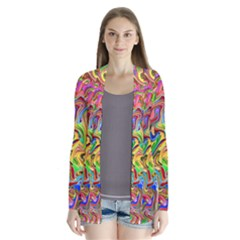 Colorful 2 Drape Collar Cardigan