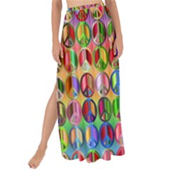 Peace Sign Maxi Chiffon Tie Up Sarong