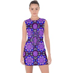 Colorful 3 Lace Up Front Bodycon Dress