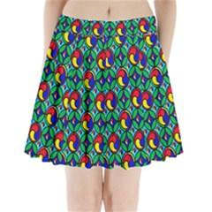 Colorful 4 Pleated Mini Skirt