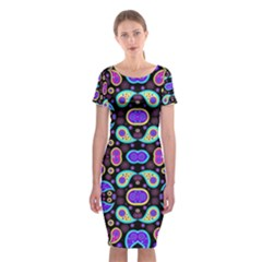 Colorful 5 Classic Short Sleeve Midi Dress