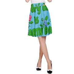 Earth Day A Line Skirt