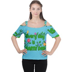 Earth Day Cutout Shoulder Tee
