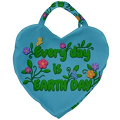 Earth Day Giant Heart Shaped Tote