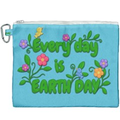 Earth Day Canvas Cosmetic Bag (xxxl)