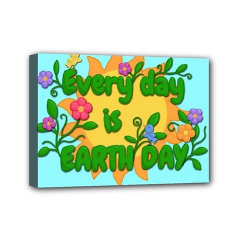 Earth Day Mini Canvas 7  X 5