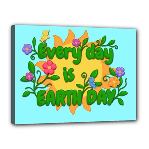 Earth Day Canvas 16  X 12