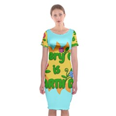 Earth Day Classic Short Sleeve Midi Dress