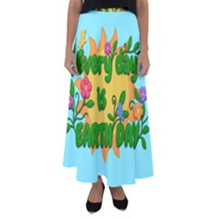 Earth Day Flared Maxi Skirt