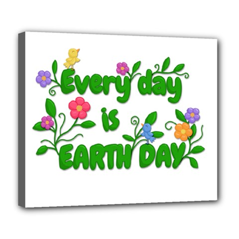 Earth Day Deluxe Canvas 24  X 20