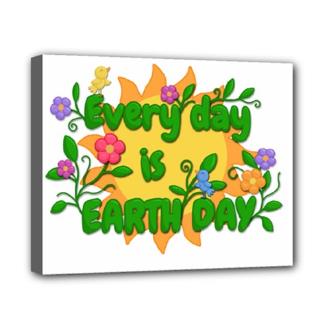 Earth Day Canvas 10  X 8