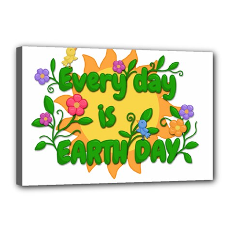 Earth Day Canvas 18  X 12