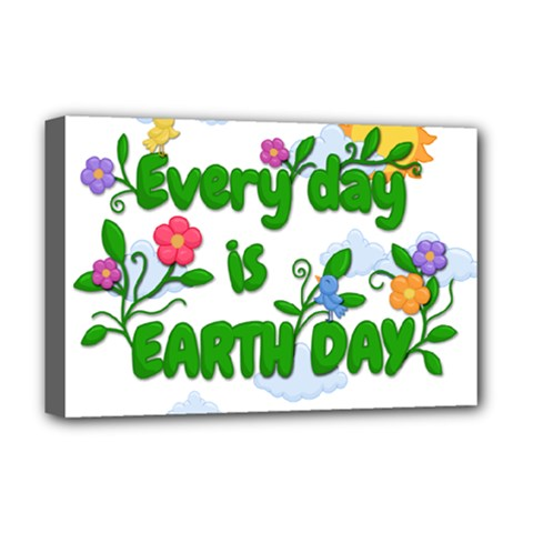 Earth Day Deluxe Canvas 18  X 12