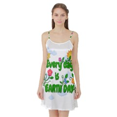 Earth Day Satin Night Slip