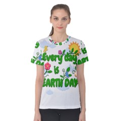Earth Day Women s Cotton Tee