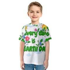 Earth Day Kids  Sport Mesh Tee