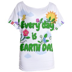 Earth Day Women s Oversized Tee