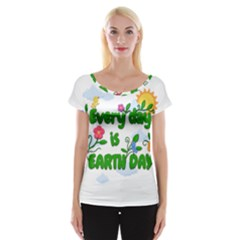 Earth Day Cap Sleeve Tops