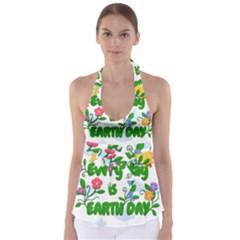 Earth Day Babydoll Tankini Top