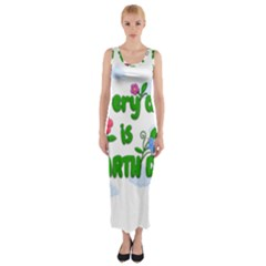 Earth Day Fitted Maxi Dress