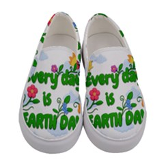Earth Day Women s Canvas Slip Ons