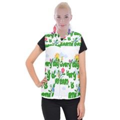 Earth Day Women s Button Up Vest