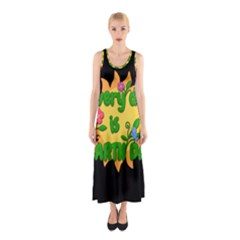 Earth Day Sleeveless Maxi Dress