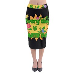 Earth Day Midi Pencil Skirt