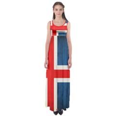 Iceland Flag Empire Waist Maxi Dress