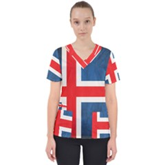 Iceland Flag Scrub Top