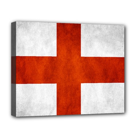 England Flag Deluxe Canvas 20  X 16