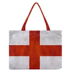 England Flag Zipper Medium Tote Bag