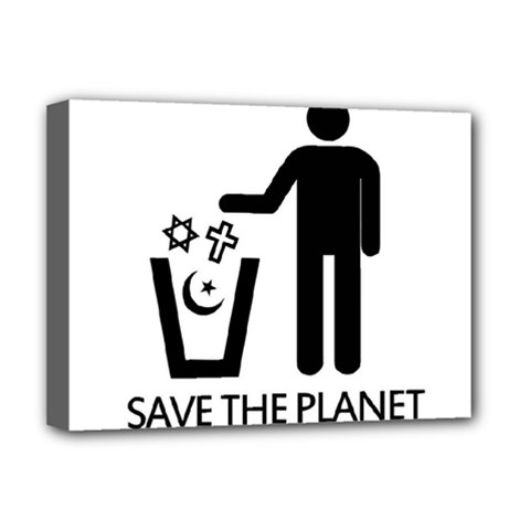 Save The Planet   Religions  Deluxe Canvas 16  X 12