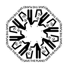 Save The Planet   Religions  Hook Handle Umbrellas (small)