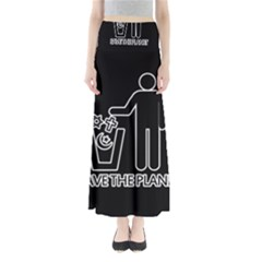 Save The Planet   Religions  Full Length Maxi Skirt