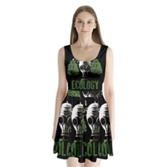 Ecology Split Back Mini Dress