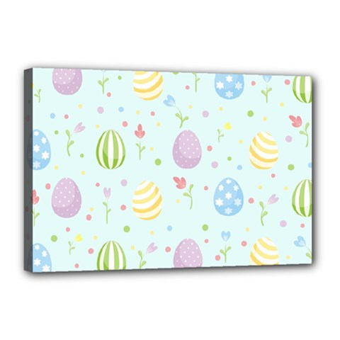 Easter Pattern Canvas 18  X 12
