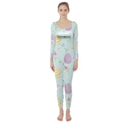Easter Pattern Long Sleeve Catsuit